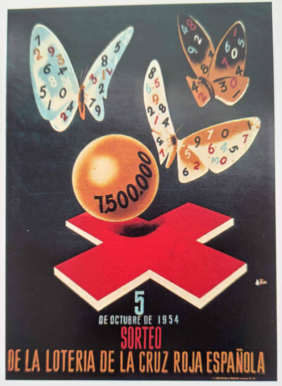 Cartel de la Cruz Roja 5 de Octubre de 1954