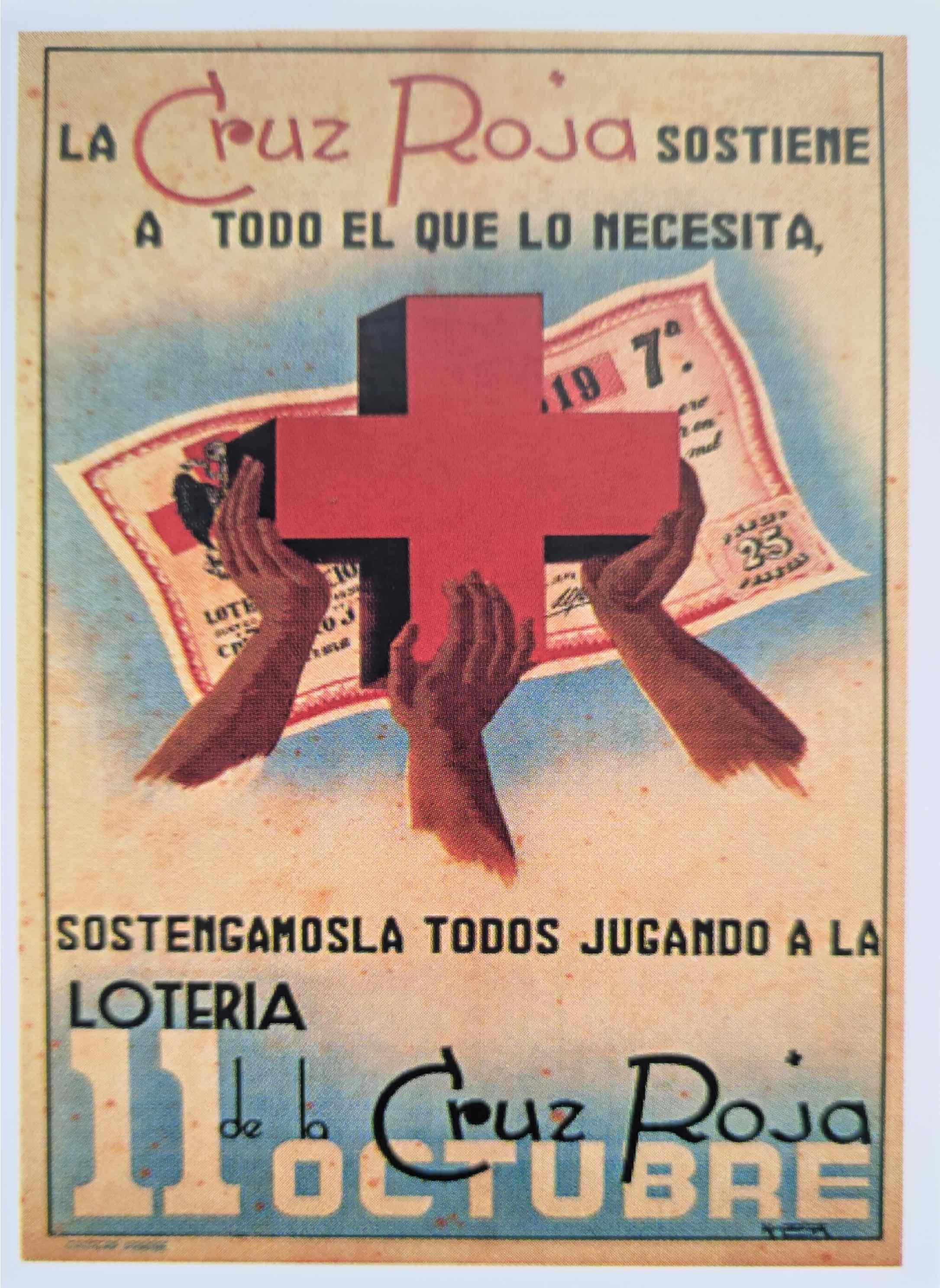Cartel de Cruz Roja 11 de Octubre